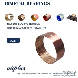 Bimetallic Metric Flanged Sleeve Bearing Automotive And Construction Machinery Parts