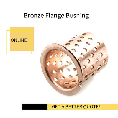 Lagerbuchsen Bronze Sleeve Bushings, Flange Glidlager Size Made to order