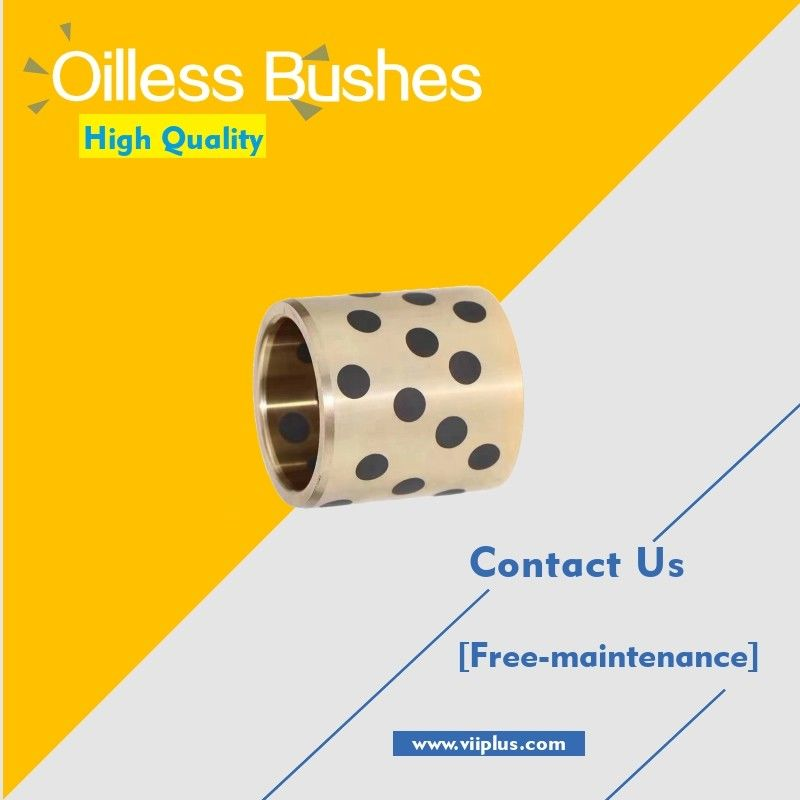 Oilless Buissons a branché le type en bronze droit de graphite et de bride